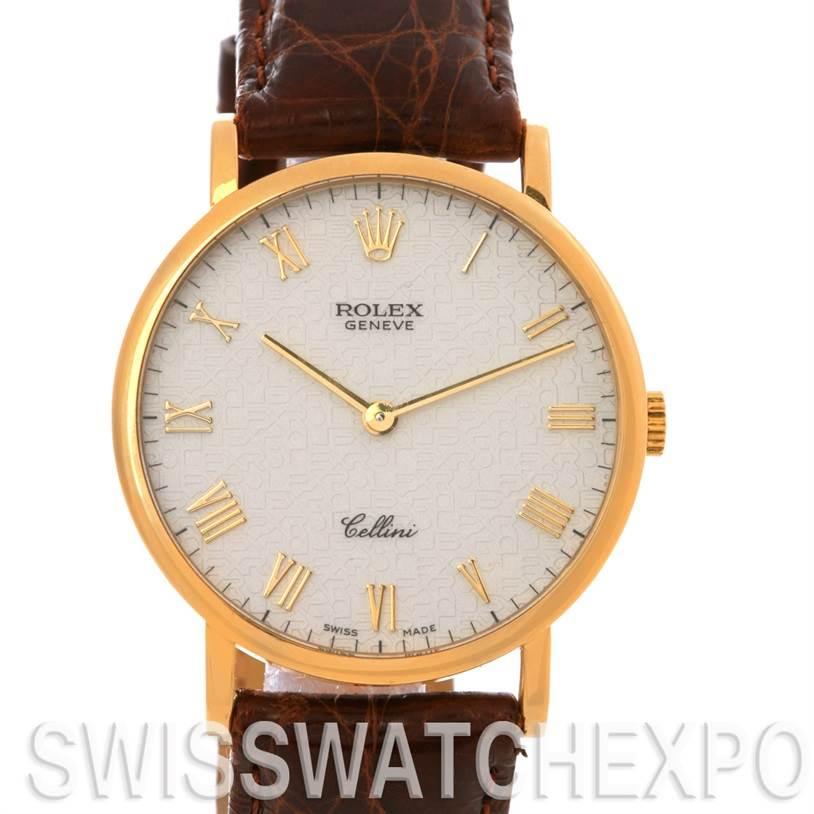 Rolex Cellini Classic 18k Yellow Gold Watch 5112 SwissWatchExpo