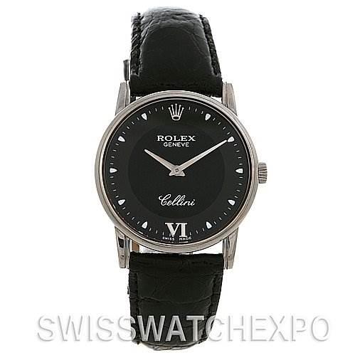2420 Rolex Cellini Classic Mens 18k White Gold Watch 5116 SwissWatchExpo