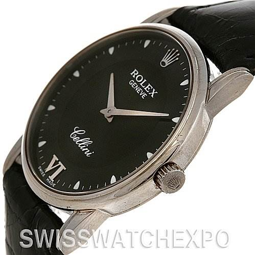 2420 Rolex Cellini Classic Mens 18k White Gold Watch 5116 SwissWatchExpo
