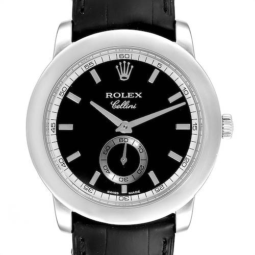 Photo of Rolex Cellini Cellinium Platinum Black Dial Mens Watch 5241