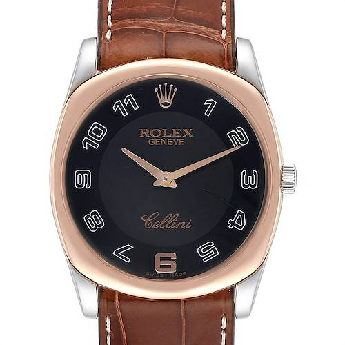 Rolex Cellini Danaos White Rose Gold Mens Watch 4233 Box Papers