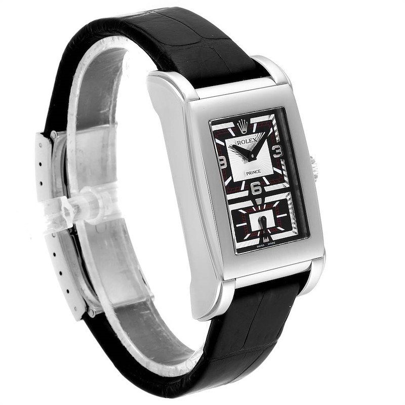 Rolex Cellini Prince Black Dial White Gold Mens Watch 5443 Box Papers SwissWatchExpo