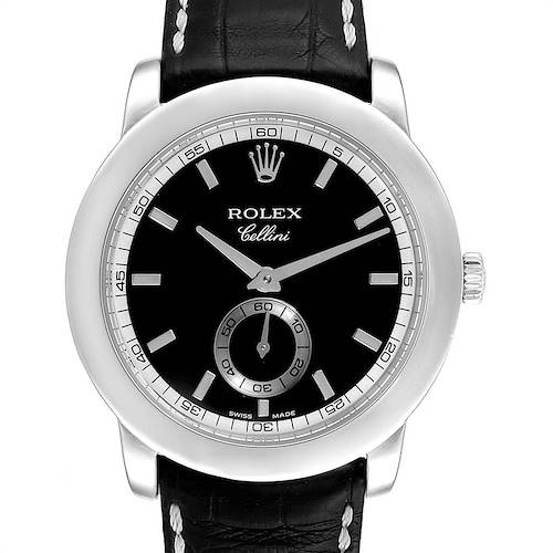 Photo of Rolex Cellini Cellinium 35mm Platinum Black Dial Mens Watch 5241