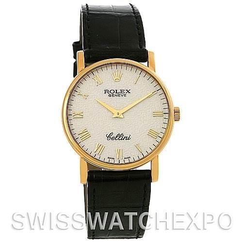 2602 ROLEX Cellini Classic Mens 18K Yellow Gold 5115 2006 SwissWatchExpo