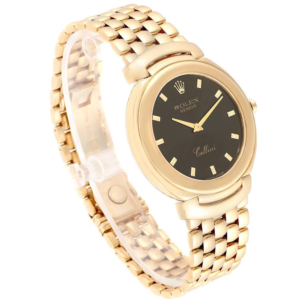Rolex Cellini 18k Yellow Gold Jubilee Anniversary Dial Mens Watch 6623 SwissWatchExpo