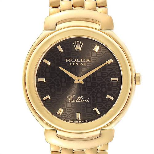 Rolex Cellini 18k Yellow Gold Jubilee Anniversary Dial Mens Watch 6623