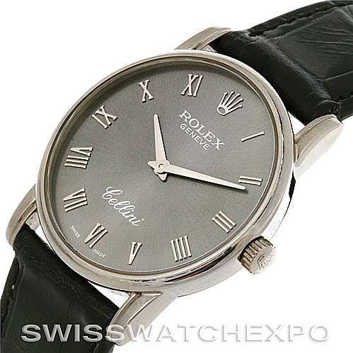 2660 Rolex Cellini classic mens 18k white gold 5116/9 2002 SwissWatchExpo