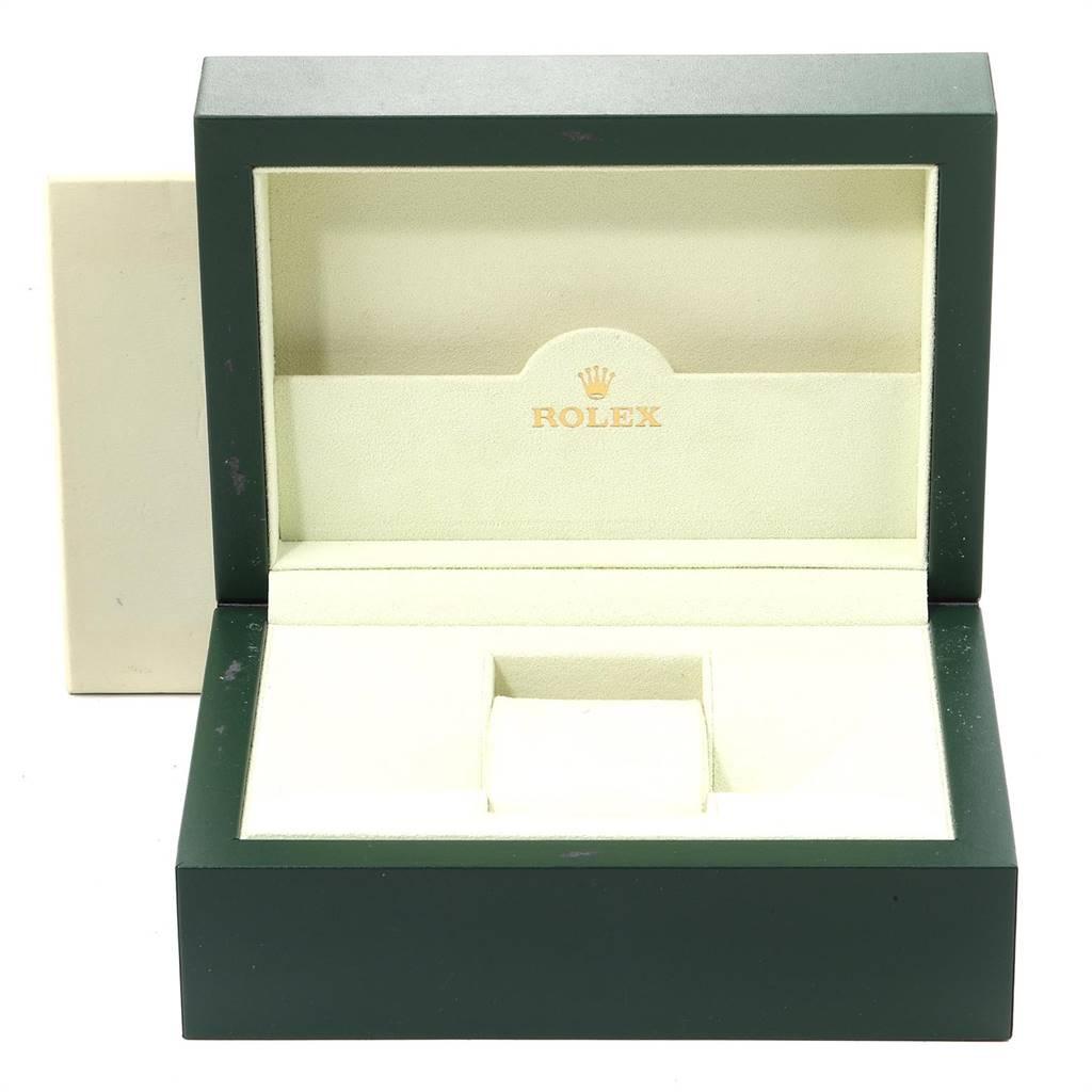 Rolex Cellini Prince White Gold Silver Dial Black Strap Mens Watch 5441 SwissWatchExpo