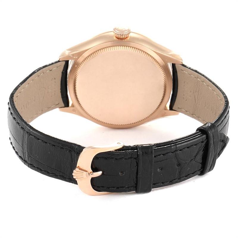 Rolex Cellini Dual Time Everose Rose Gold Mens Watch 50525 Unworn SwissWatchExpo