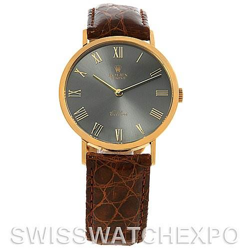 2663 Rolex Cellini Classic Mens 18k Yellow Gold Watch 4112 SwissWatchExpo