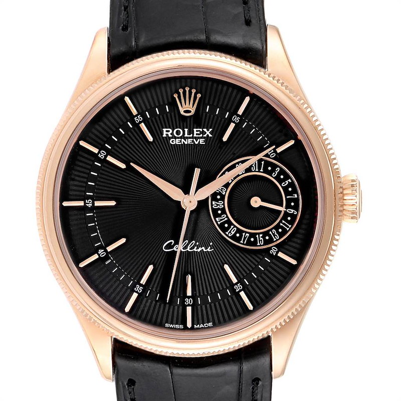 Rolex Cellini Date 18K Everose Gold Automatic Mens Watch 50515 Box Card SwissWatchExpo