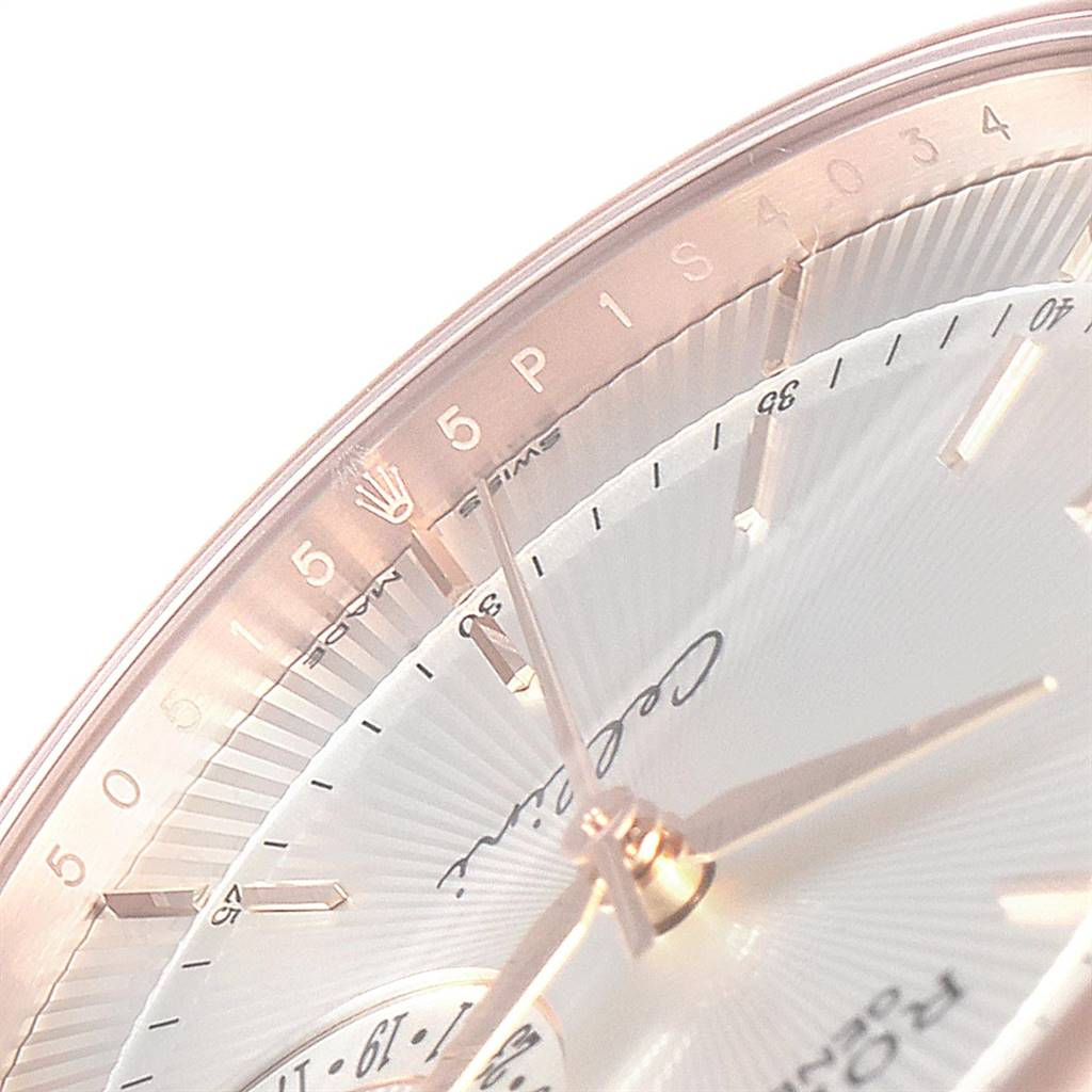 Rolex Cellini Date 18K Everose Gold Silver Dial Automatic Watch 50515 SwissWatchExpo