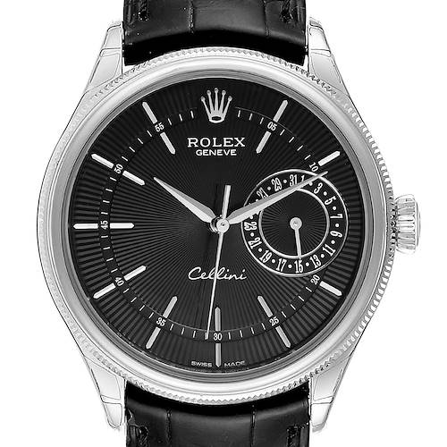 Rolex Cellini Date 18K White Gold Automatic Mens Watch 50519 Unworn