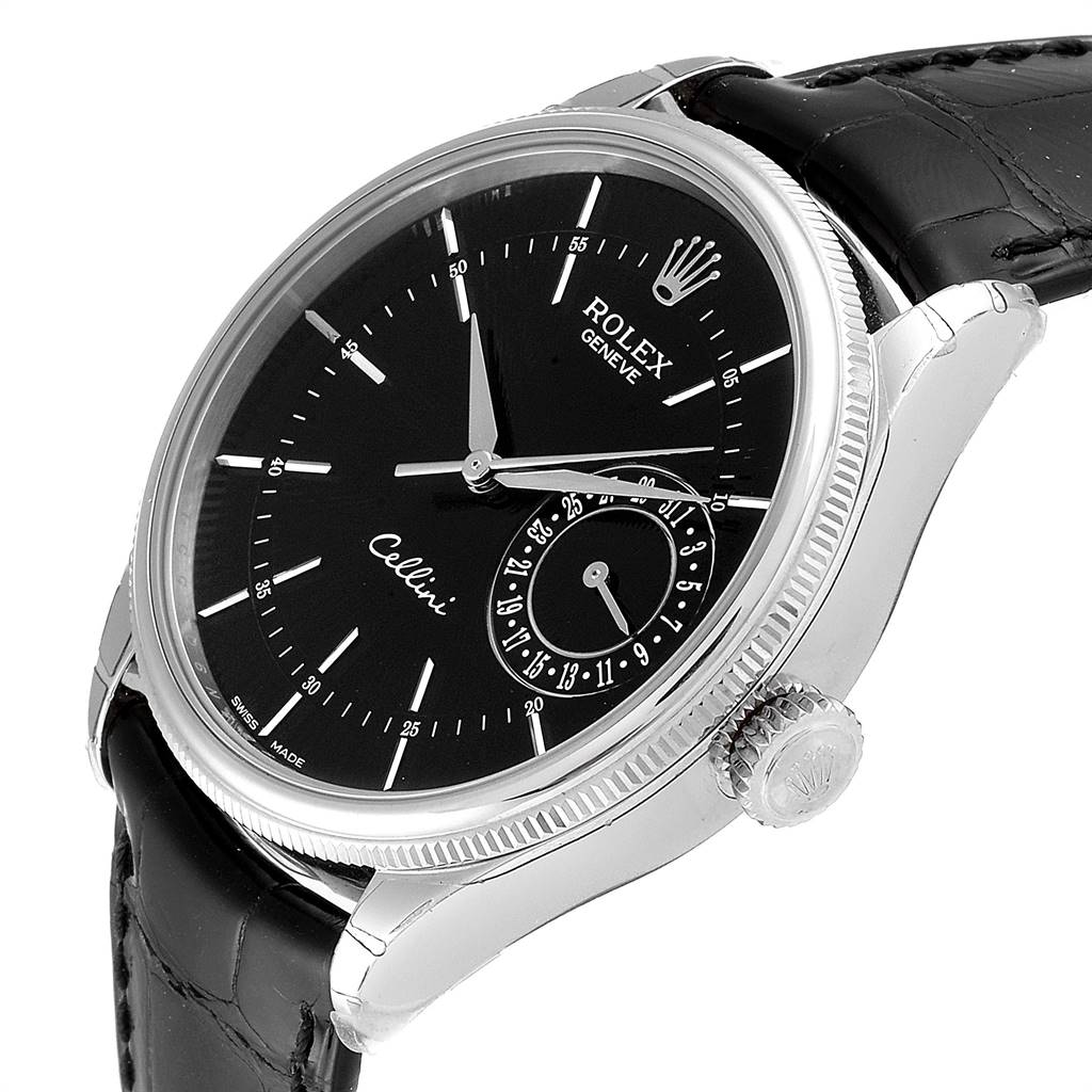 Rolex Cellini Date 18K White Gold Automatic Mens Watch 50519 Unworn SwissWatchExpo
