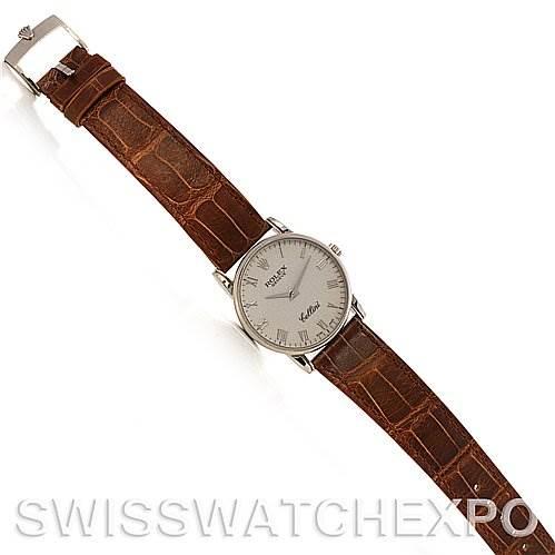 2681 Rolex Cellini Classic mens 18k white gold 5116/9 UNWORN SwissWatchExpo