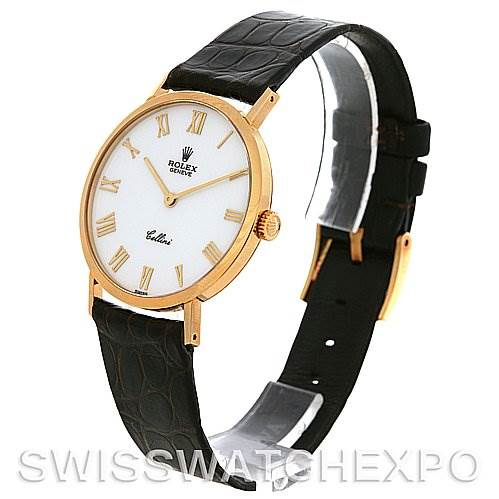 2687 Rolex Cellini Classic Mens 18k Yellow Gold Watch 4112 SwissWatchExpo