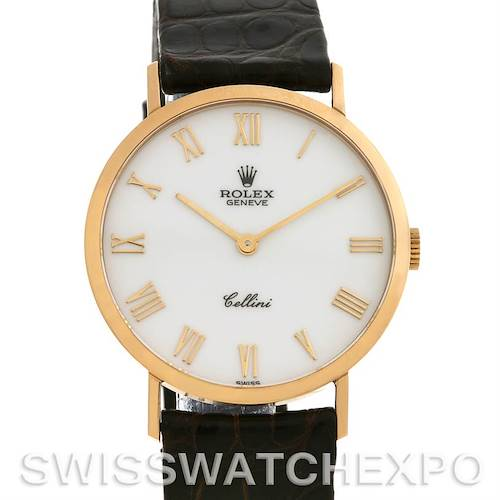 Photo of Rolex Cellini Classic Mens 18k Yellow Gold Watch 4112