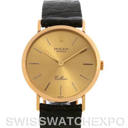 Photo of Rolex  Cellini Classic Mens 18k Y Gold Watch 4112 Unworn