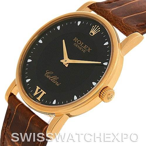 2672 Rolex Cellini Classic Mens 18K Yellow Gold 5115 2002 SwissWatchExpo