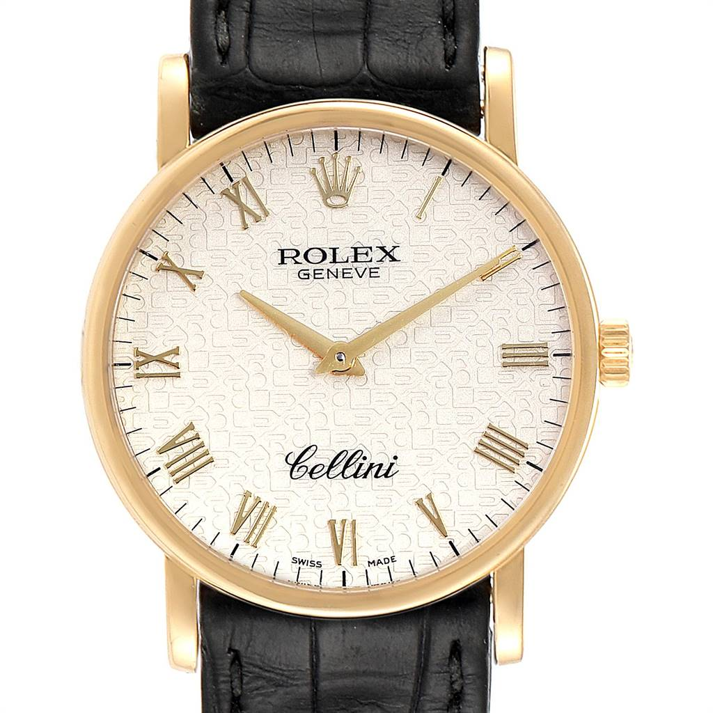 Photo of Rolex Cellini Classic Yellow Gold Anniversary Dial Mens Watch 5115