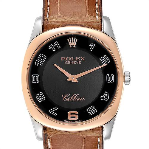 Photo of Rolex Cellini Danaos White Rose Gold Mens Watch 4233 Box Papers