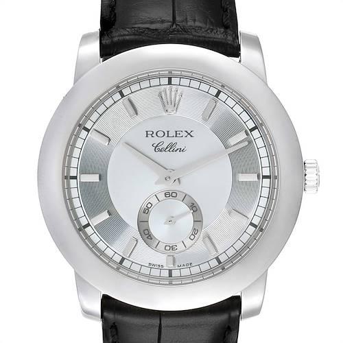 Photo of Rolex Cellini Cellinium 38mm Platinum Ice Glacier Blue Dial Mens Watch 5241