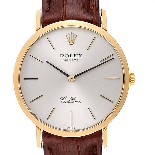 Photo of Rolex Cellini Classic Yellow Gold Silver Dial Mens Watch 4112