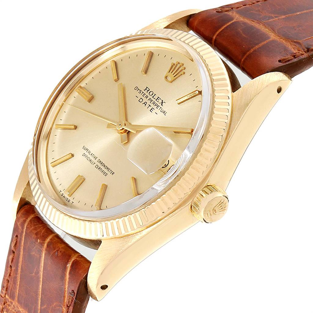 Rolex Date 18K Yellow Gold Automatic Vintage Mens Watch 1503 SwissWatchExpo