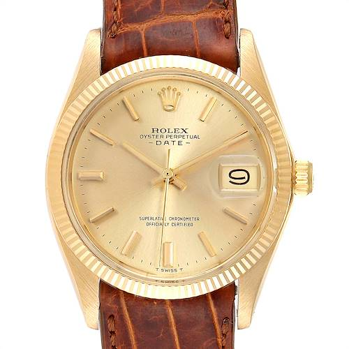 Photo of Rolex Date 18K Yellow Gold Automatic Vintage Mens Watch 1503