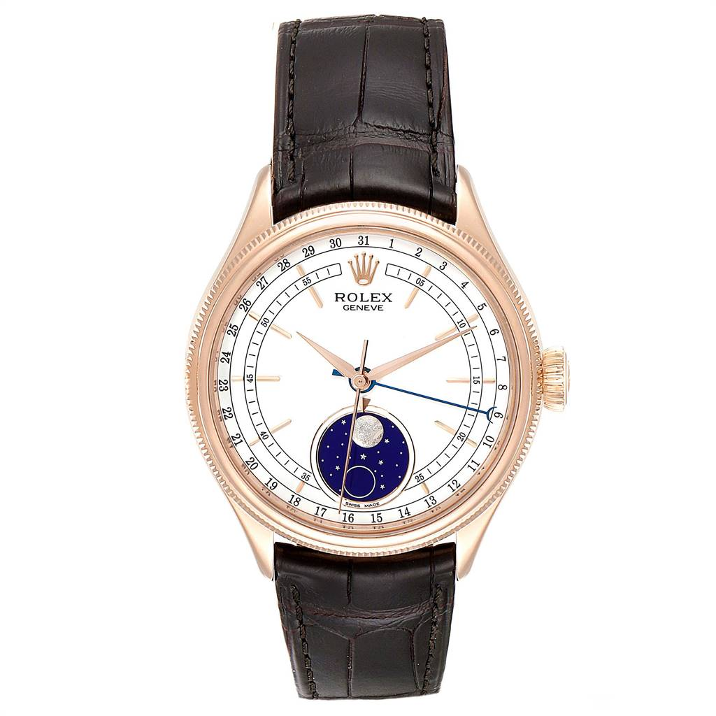 Rolex Cellini Moonphase Everose Gold Automatic Mens Watch 50535 Box Card SwissWatchExpo