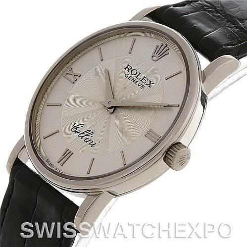 2739 ROLEX  CELLINI CLASSIC MENS 18K W GOLD 5115/9 1999-2000 SwissWatchExpo