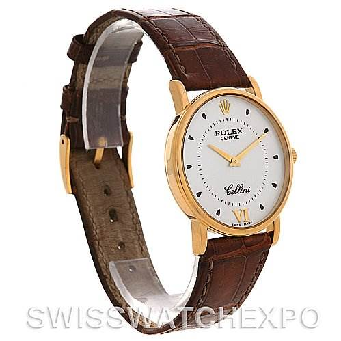 2732 Rolex  Cellini Classic Mens 18K Yellow Gold 5115 2002 SwissWatchExpo