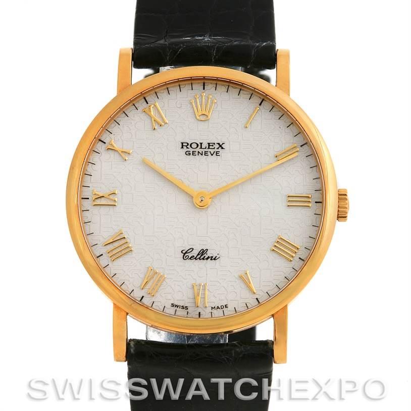 2748 Rolex 18K YELLOW GOLD ROLEX CELLINI CLASSIC WATCH 5112 SwissWatchExpo