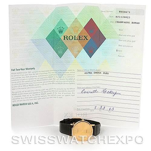 2787 Rolex 18k Yellow Gold Cellini Classic Watch 5112 Unworn NOS SwissWatchExpo