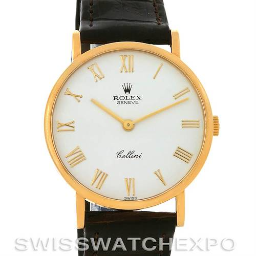 Photo of ROLEX 18K YELLOW GOLD  CELLINI CLASSIC WATCH 5112