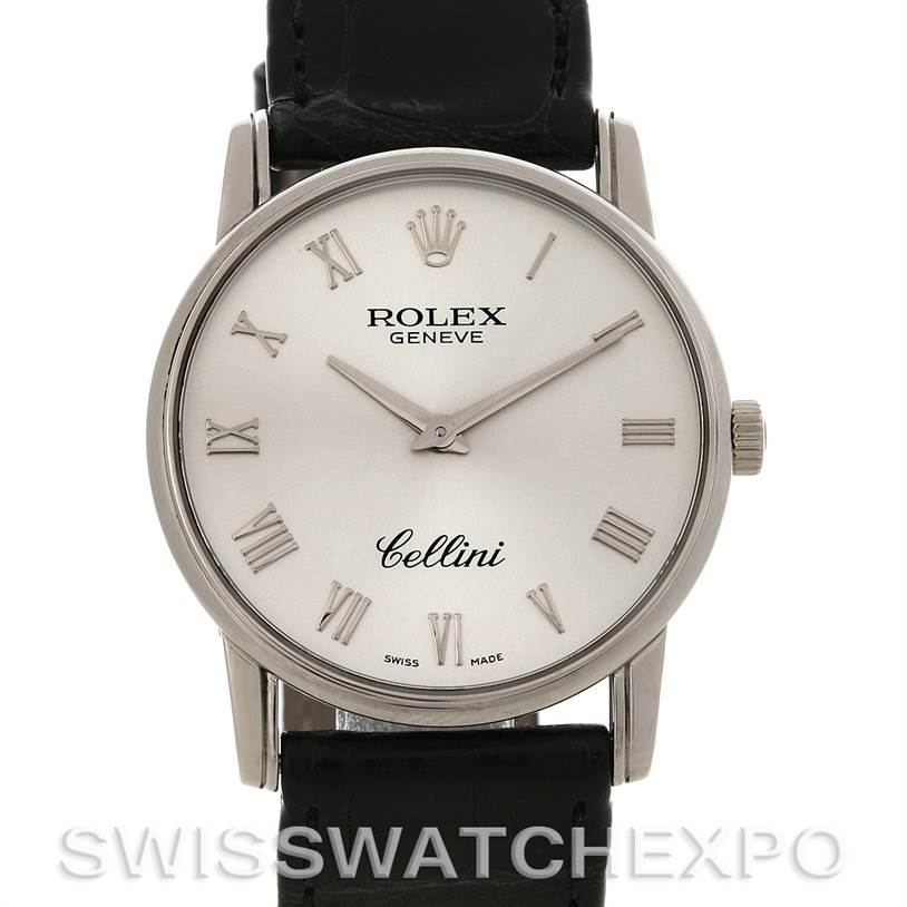 2925 Rolex Cellini Classic mens 18k white gold 5116/9 Unworn SwissWatchExpo