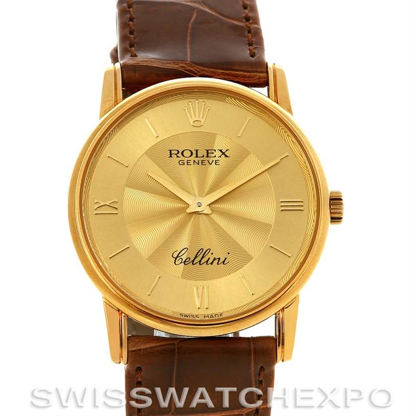 2910 Rolex Cellini Classic Mens 18K Yellow Gold 5116 Unworn SwissWatchExpo