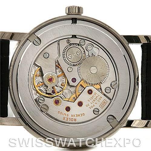 3030 Rolex Cellini Classic Mens 18K White Gold 5115 2006 SwissWatchExpo
