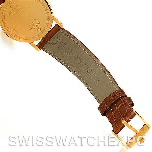 4027 Rolex Cellini Classic Mens 18K Yellow Gold Watch 5115 SwissWatchExpo