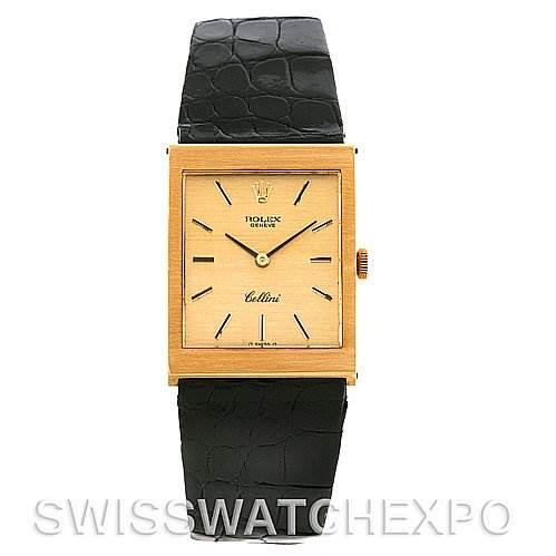 4024 Rolex Cellini Vintage 18k Yellow Gold 4014 Year 1975 SwissWatchExpo