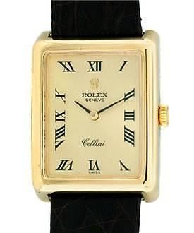 Photo of Cellini Mens 18k Yellow Gold Rolex 4103 - Rare