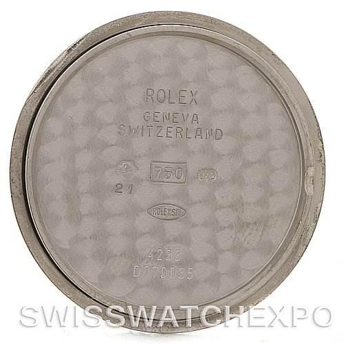 4137 Rolex Cellini Danaos 4233 18k White Gold Watch Year 2008 SwissWatchExpo