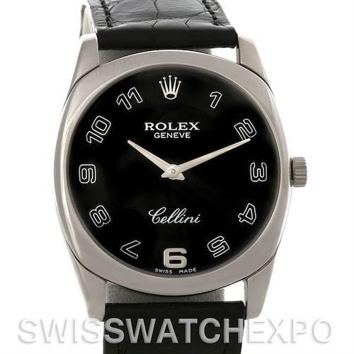 Photo of Rolex Cellini Danaos18k White Gold Black Dial Watch 4233