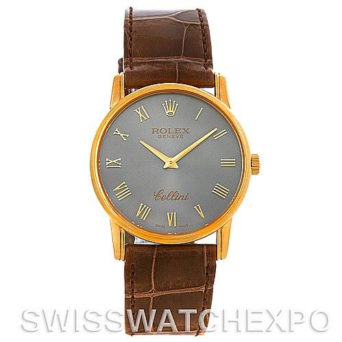 4400 Rolex Cellini Classic 18k Yellow Gold Watch 5116 SwissWatchExpo