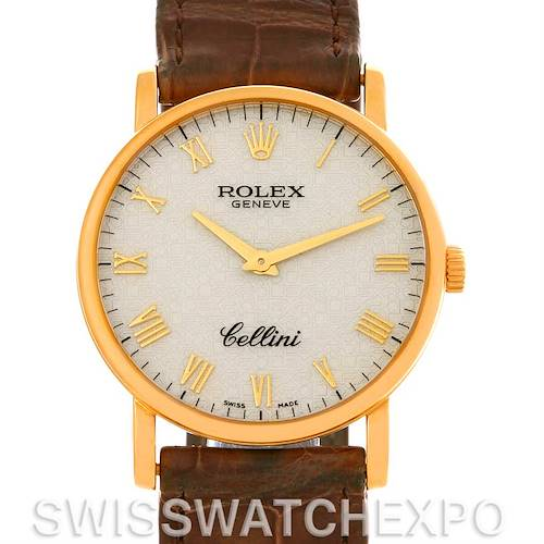 Photo of Rolex Cellini Classic Mens 18K Yellow Gold Watch 5115