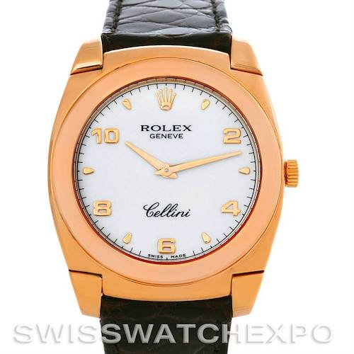 Photo of Rolex Cellini Cestello 18K Pink Gold Mens Watch 5330/5