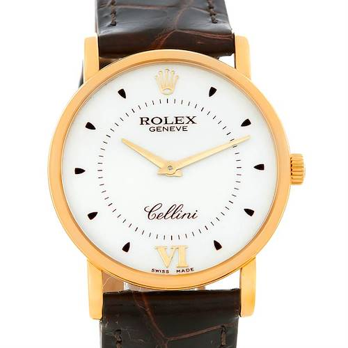 Photo of Rolex Cellini Classic Mens 18K Yellow Gold 5115 Watch
