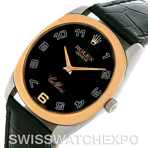 5206 Rolex Cellini Danaos18k White and Rose Gold Watch 4233 SwissWatchExpo