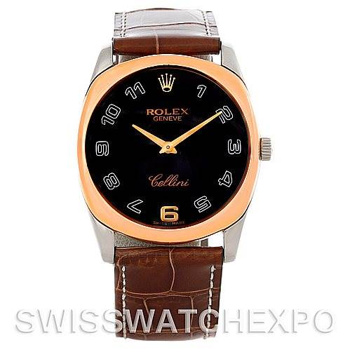 Rolex Cellini Danaos18k White and Rose Gold Watch 4233 SwissWatchExpo