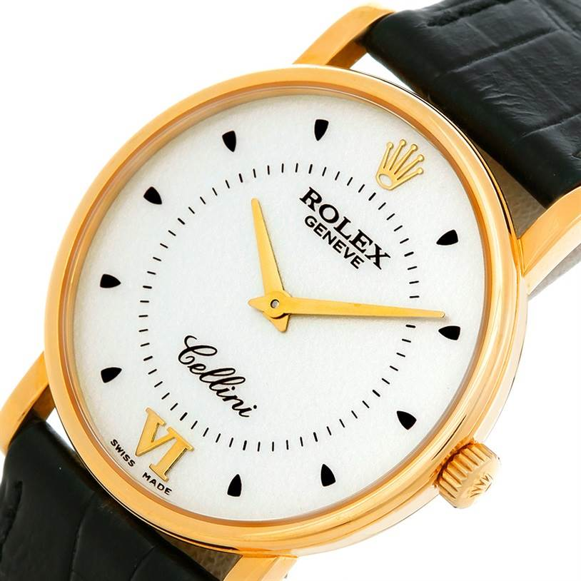 5266 Rolex Cellini Classic Mens 18K Yellow Gold 5115 Watch SwissWatchExpo